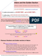 Fibonacci Numbers and the Golden Section