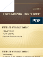 Concept of Governance