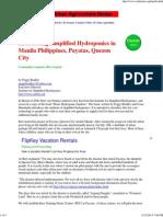 Hydroponics Project Manila