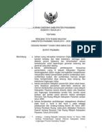 Peraturan Daerah Kabupaten Pasaman Nomor 6 Tahun 2011 Tentang Rencana Tata Ruang Wilayah Kabupaten Pasaman Tahun 2010 - 2030