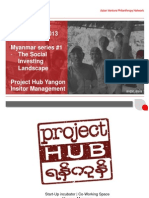 Myanmar Webinar 1 The Social Investing Landscape
