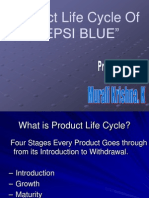 Product Life Cycle of PEPSI BLUE