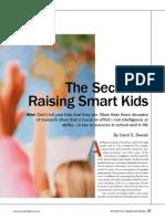 The Secret for Raising Smart Kids