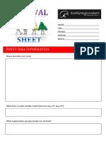 Festival Idea Sheet