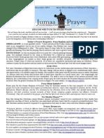 Jumaa Prayer 6 December 2013