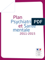 Plan Psychiatrie Et Sante Mentale 2011-2015