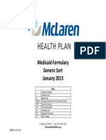 Positive Listing Generic Medicaid-McLaren Health Plan-HMO