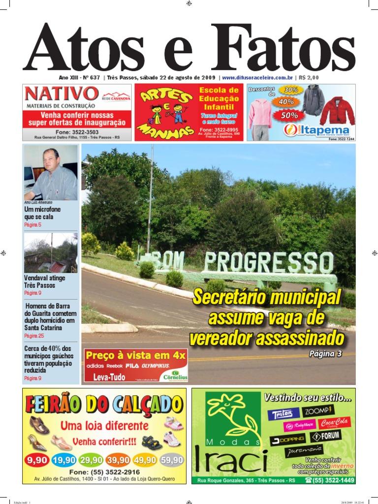 2e52d109189f2 Jornal Atos e Fatos Ed. 637 - 22-08-2009