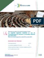 Dossier de presse Conseil régional PdlL