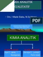 Kimia analitik KUALITATIF 2012