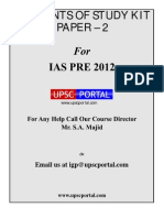 IGP Contents Details of Study Kit Paper 2