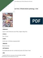 Ancient Names, Mythological Names, Hindu Epics Mythology Names, Vedic Names A