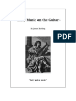 Early Music on the Guitar