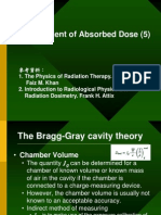 Measurement of absorbed dose