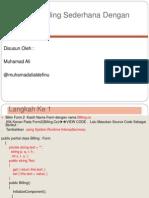Bahan Kuliah Aplikasi Billing Sederhana Dengan C#