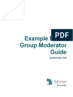 Focus Group Moderator Guide