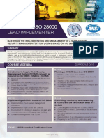 Certified ISO 28000 Lead Implementer - Four Page Brochure