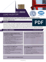 Certified ISO 28000 Lead Auditor - Four Page Brochure