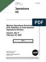 NASA Shuttle Post Launch TPS Inspection Checklist