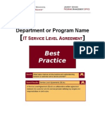 BEST PRACTICE Service Level Agreements