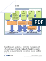 Scandinavian guidelines for initial management of minimal, mild and moderate head injuries in adults