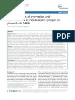Characterization of Pyoverdine and Achromobactin InPseudomonas Syringae
