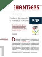 Expliquer l'économie ou exposer la « science économique » ?