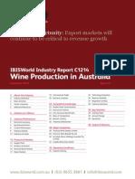 Wine Production in Australia Industry Report
