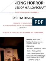 The Horrors of H.P. Lovecraft System Design