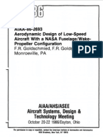 AIAA- Aerodynamic Design of Low Speed Aircraft