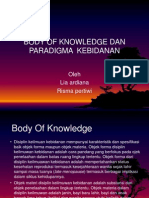 Body of Knowledge Dan Paradigma Kebidanan