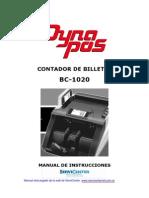 Manual de instruciones contadora dinero Dynapos Bc-1020 español