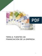 TEMA 6 MEDIOS DE FINANCIACIÓN