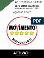 Assemblea Associazione Trentino a 5 Stelle, 11 dicembre 2013