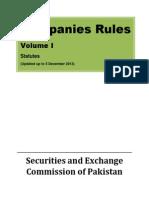 Companies Rules Volume I