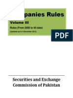 Companies Rules Volume III