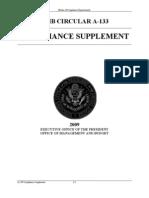 OMB Circular A-133 Compliance Supplement 2009