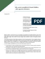 Lettera Aperta delle società di Sanità Pubblica sulla sigaretta elettronica