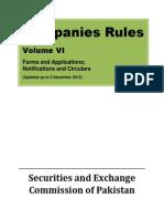 Companies Rules Volume VI