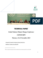 Report on the Warsaw Climate Change Conference, November 2013
