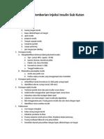 Prosedur Pemberian Injeksi Insulin Sub Kutan