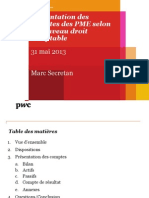 Présentation Marc Secretan - PwC - Pt dej 31.05.2013