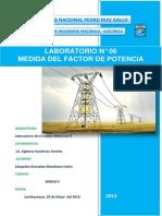Laboratorio n6 Medida Del Factor de Potencia