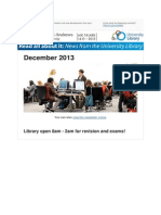 Library Newsletter December 2013