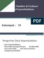 Sumber Data demografi