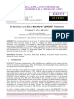 An Empirical Large Signal Model for RF LDMOSFET Transistors