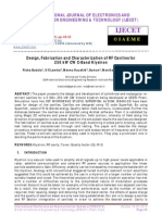 Design, Fabrication and Characterization of RF Cavities For