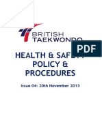 British Taekwondo's Full and Detailed Health and Safety Policy