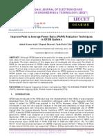 Improve Peak to Average Power Ratio (PAPR) Reduction Techniques