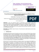Three-Dimensional Analytical Subthreshold Current Model of Fully